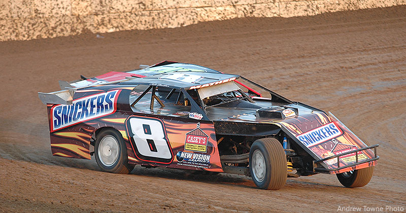 Colt Mather of Webster, Iowa, steered the Snickers USMTS Modified in 2010.
