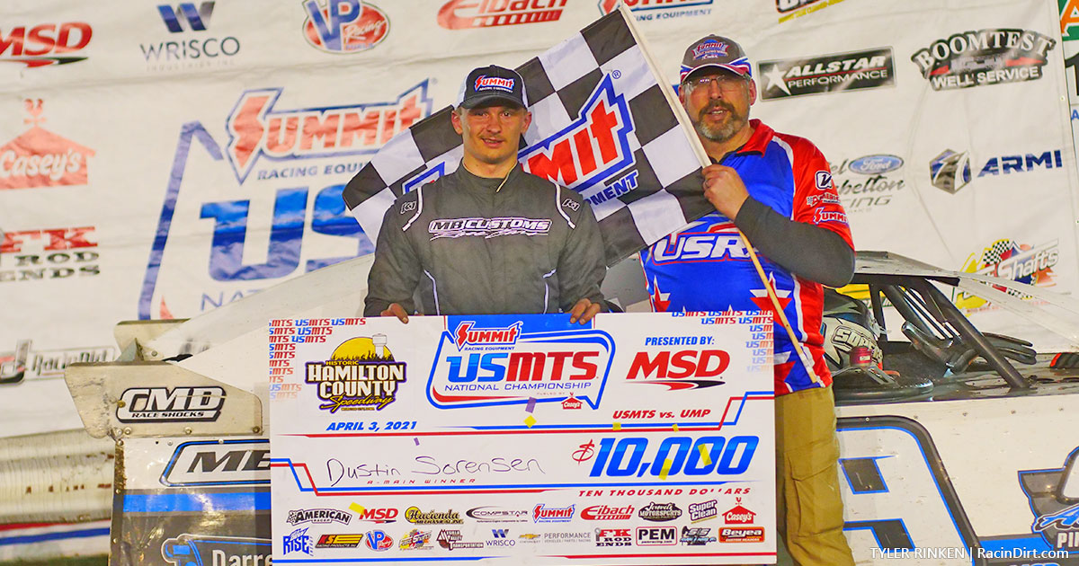 Sorensen shines in USMTS finale at Hamilton County Speedway